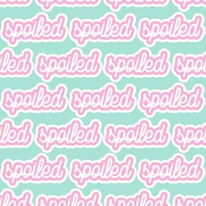 spoiled - pink and aqua - LAD19