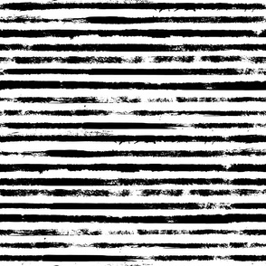 Painted Stripes Black on White - large scale