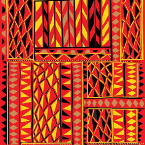 Royal Hawaiian_mountain tapa-yellow/red
