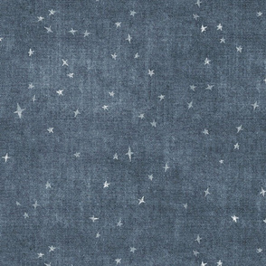 Magical stars on distressed blue denim independence day 4th July Patriotic