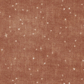 copper brown stars starry canvas