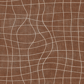 topography grid cinnamon copper brown canvas look