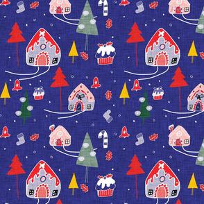 Gingerbeard Houses  Blue