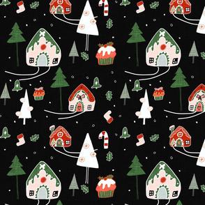 Gingerbeard Houses  Black