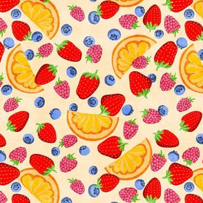 Tutti Fruity! Fresh berries and oranges (medium scale)