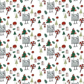 Christmas Owl White