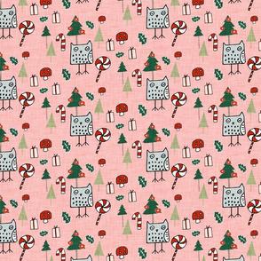 Christmas Owl Pink