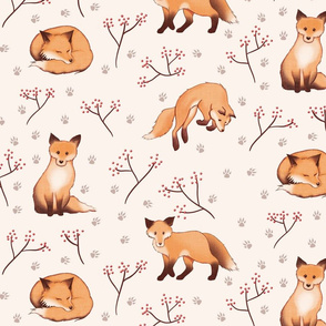 Sweet playful foxes (larger scale)