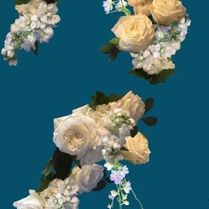 Bridal Roses on Teal