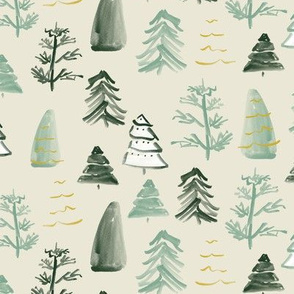 Christmas Trees on Cream