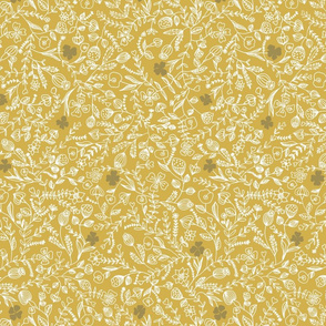 flower ochre with darker flower smaller