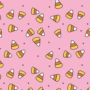 Halloween candy corn sugar pink girls