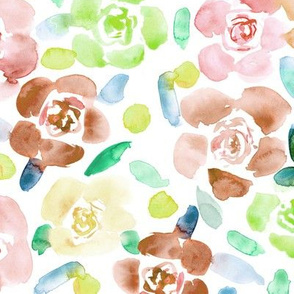 Bloom in Saint-Tropez, fall colors, watercolor florals