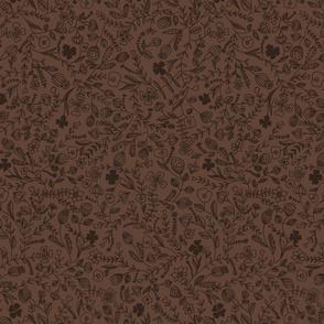 floral brown smaller