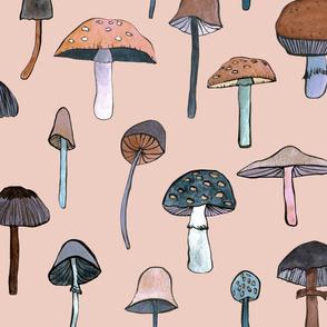 mushroom pink large
