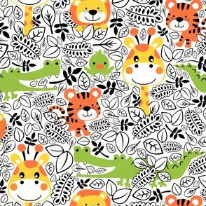 Jumping Jungle Pattern
