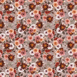 Blithe Floral Taupe