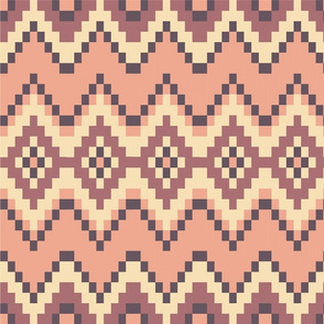 Pink and Cream Aztec Pattern