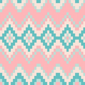 Baby pink Aztec Pattern