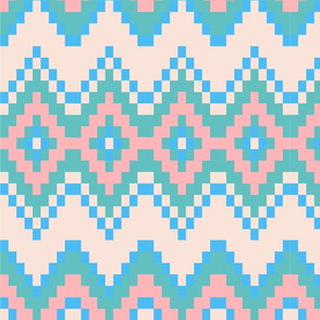 Pink and Blue aztec Pattern