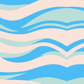 Light pink and blue Waves