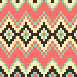 Tropical beach aztec pattern
