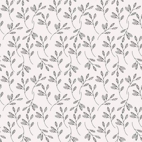 Countryside Farmhouse Sprigs on Palest Pink