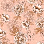 Helen's Vintage Peonies V1 (rose)
