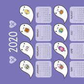 Kawaii Ghost Favourites 2020 Calendar