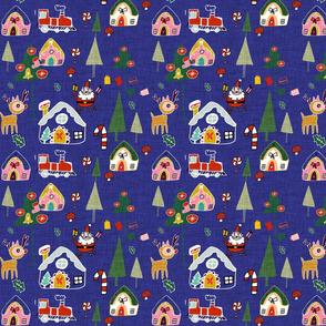 Santa's in town Blue