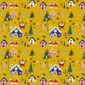 Santa's in town Yellow