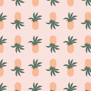 fun pineapple in pink background