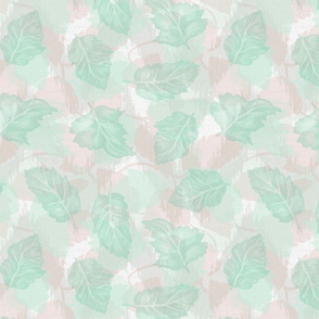 Pink and Green Sheer Leaves