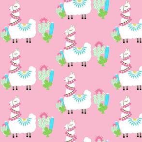 Fancy Glammy LLAMA cactus- pink MED7