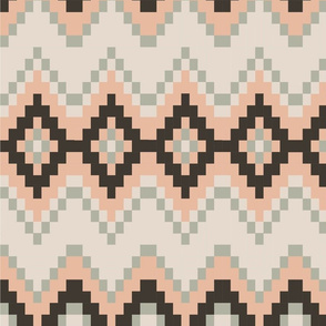 light pink and grey diamond pattern