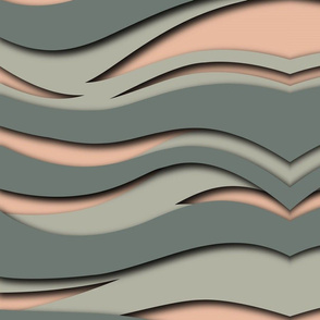 Dark grey and pink waves