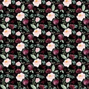 "2"" Wild at Heart Florals / Black"