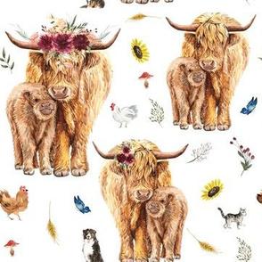 highland cow - medium scale
