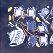Watercolour Tea-Time 2020 Tea Towel Calendar