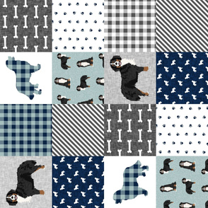 bernese mountain dog pet quilt b cheater quilt dog wholecloth fabric