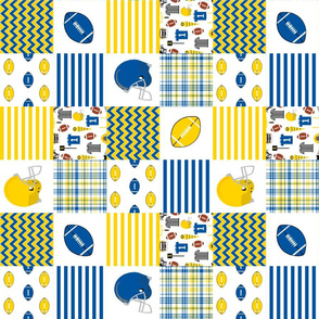 "delaware quilt fabric - 3"" squares, cheater quilt, football quilt, university college fabric"