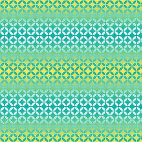 Breeze Block Ombre Yellow Aqua