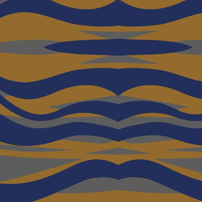 Blue and Gold Tiger Stripe