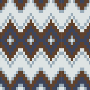 Brown and blue nordic Pattern