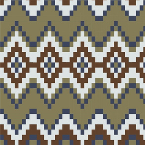 Golden brown and blue pattern