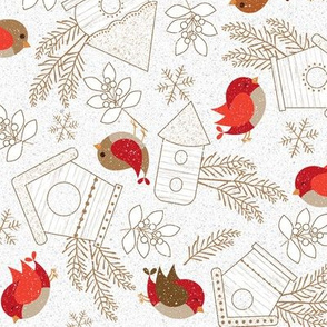 Winter Birds Scatter