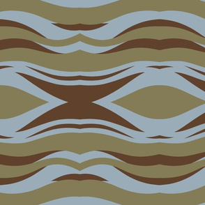 Blue and brown nordic waves