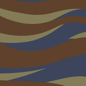 Blue and brown tiger stripe