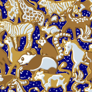 Gingerbread Animal Parade | Navy