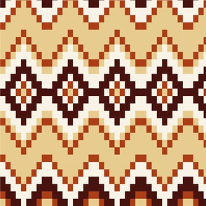 Autumn gold and maroon Pattern